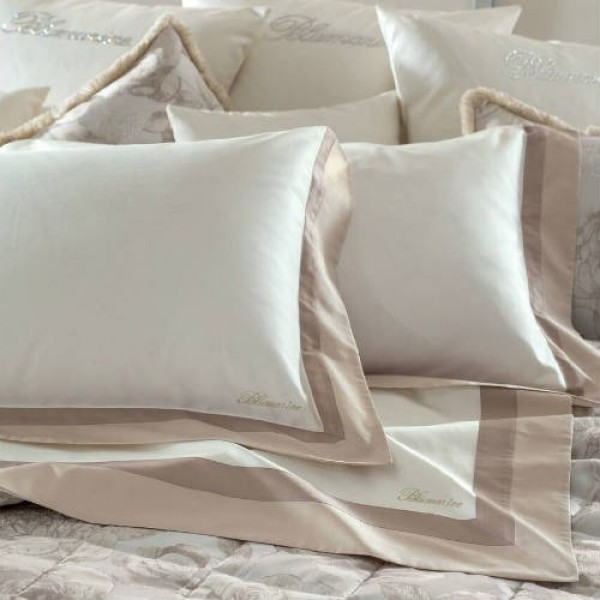 Blumarine Home Collection- Doppio Bordo Completo Lenzuola Matrimoniale in raso